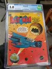 Batman 59 1950  CGC 3.0 Golden Age Key DC Comic 1st App Deadshot Key Book