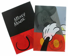 New Mickey & Minnie Mouse Poly File Folder - L file Folder ( Japan ) #012 * 1 PC