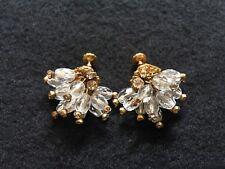 RARE Signed MIRIAM HASKELL Crystal & Rhinestone Cluster Mini Chandelier Earrings