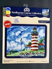 "DMC Needlepoint Canvas Collection ""Lighthouse Landscape"" 8"" x 10"""