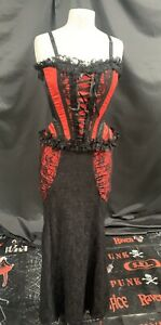 Gothic Steampunk  Corset / Skirt Red Outfit By Raven S