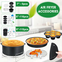 7/8/9'' Air Fryer Frying Cage ish Baking Pan Rack Pizza Tray Pot Accessories