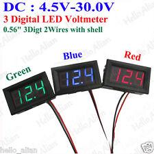 DC 4.5V-30.0V 3-Digital LED Voltmeter Voltage Guage Meter 5V 12V 24V Car Battery