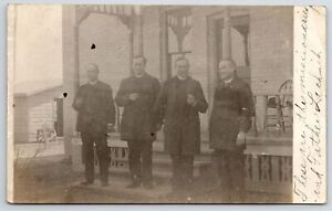 Hüls Krefeld Father Henry Lachnit & Missionaries~Cassville & Colby WI-RPPC 1910