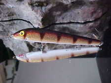 """Ac Model 450 Shiner 4 1/2"""" Wood Shallow Minnow in Gold Perch/White Belly - Bass"""