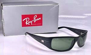 Authentic Ray Ban SideStreet Matte Black Active Lifestyle Wrap RB4057 Sunglasses