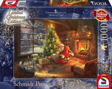 1000 Teile Schmidt Spiele Puzzle Thomas Kinkade Der Weihnachtsmann ist da! 59495