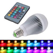 12W E27 16 Farbwechsel RGB LED Licht Lampe 85-265V + IR-Fernbedienung ET