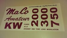 Maco Linear Amplifier label set for restoration for Kw, 750, 300 and 200