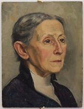 PAULA MONTHAAN PEINTURE PORTRAIT DE S.H. VAN GELDER,SA MERE avant 1943