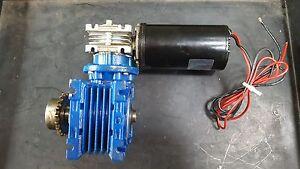 LEESON 970.601 24V MOTOR W/ MOTOVARIO NMRV/040 REDUCER GEARBOX