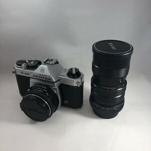 Vintage Pentax K1000 35mm SLR Film Camera With SMC Pentax-M 1:2 50mm Lens
