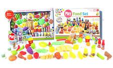 Cucina set cibo giocattolo frutta verdura playset bambini bambole 85 pezzi