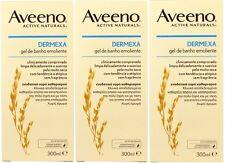 AVEENO - Paquete de 3 - dermexa EMOLIENTE Gel de baño 300ml