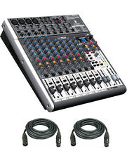 Behringer XENYX X1622USB USB Mixer with Effects & 2 XLR Cables