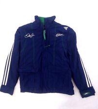 Adidas Kids Dale Earnhardt Jr RARE Unique SAMPLE Zip Jacket Blue Green SZ M