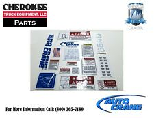 Auto Crane 320445000, Decal Kit for 3203PRX
