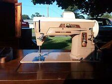 Super Clean Singer 403A Slant-O-Matic Sewing Machine W/ Kneee Peddle Working!