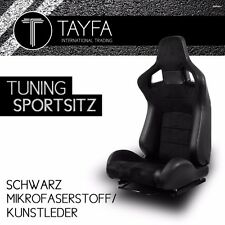 1x Autosportsitz Sportsitz Racingseat schwarz Kunstleder Mikrofaser Schalensitz