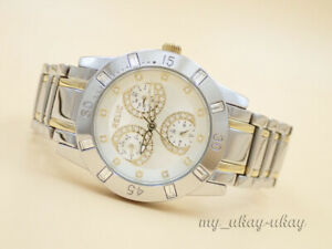 RELIC by FOSSIL ZR15669 Multifunction Crystal Two Tone Ladies Dress Watch