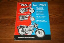 1964 BSA Motorcycle Starlite Thunderbolt Lighting Models Sales Brochure
