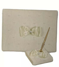 Wedding guest book and pen set (BRAND NEW)