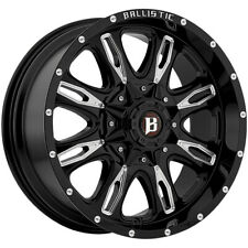 "5-18"" Inch Ballistic 953 Scythe 18X9 5x4.5""/5x5"" +12mm Black/Milled Wheels Rims"