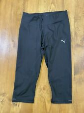 Puma Pila Seca 3/4 Negro Leggings Talla UK 14