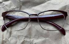 PRADA VPR65R UAN-1O1 Burgundy Red/Gold Split Eyeglasses Frame 53-16-140 @009