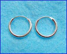 Pair Of Sterling Silver 925  Hoop Earrings 12 mm  !!       Brand New !!