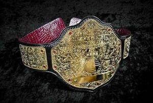 Big Gold World Heavyweight Wrestling Championship Replica Belt WCW 4mm Zinc