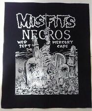 Misfits Nec 80's flier gothic punk deathrock misfits danzig samhain BACK PATCH