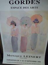 Affiche Monique Leinert - Gordes - Espace des Arts - 2000