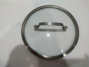 """Cuisinart Round Tempered Glass Stainless Replacement Lid 9 1/4"""""""