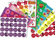 Over 200 x scratch and sniff stickers -10 assorted sheets - Grape,Strawberry,etc