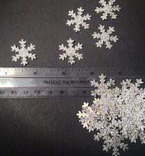 50 Fiocchi di Neve Argento Ideale Per Natale Card Making