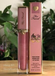 TOO FACED Rich & Dazzling High Shine Sparkling Lip Gloss NIGHT STAND Full Size