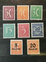 German Stamps -- Germany 1921-1923
