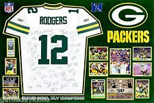 RODGERS GREEN BAY PACKERS Team signed auto SB XLV CHAMPIONS Jersey photo 20x30