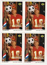 Lot of 25 1994 Upper Deck Honorary Captain Joe Montana #HC2 Insert Cards