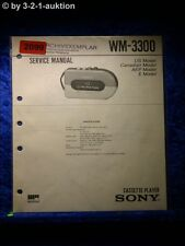 Sony Service Manual WM 3300 Cassette Player (#2099)