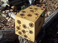Flower Power Kitchen Wood Bread Box vintage breadbox One of a Kind