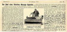 "Dr. Ed. Kaiser Berlin "" Viberon "" Vibrations- Massage- Apparat Reklame 1903"