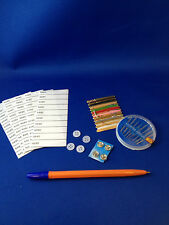 Iron on Name tags (50) and sewing kit and spare buttons New school uniform
