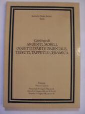 SOTHEBY - ARGENTI MOBILI ARTE ORIENTALE TESSUTI TAPPETI -FIRENZE 10/11/12.06.'81
