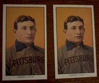 (2) Honus Wagner, 1995 (1909) T-206 Piedmont Reprint Baseball card X2 Mint