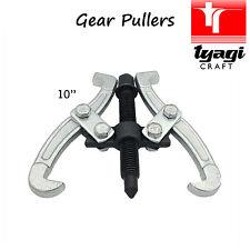 """10"""" pulgadas 2 mandíbula gear puller Reversible piñón Rodamientos Polea garaje interno"""