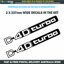 D4D Turbo Decals 237mm Wide for Toyota Prado Diesel Landcruiser stickers #T011