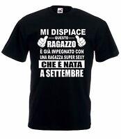 T-Shirt Maglietta J1627 Idea Regalo Compleanno Fidanzato nato a Settembre
