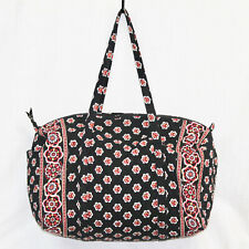 VERA BRADLEY Large Weekender Duffel Bag in Pirouette Black & Multi Floral Print